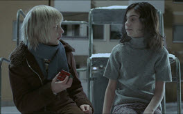 Oskar and Eli still from movie