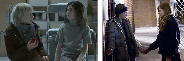 Oskar and Eli and Owen and Abby stills from the movie