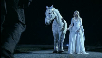 White horse and mother from Halloween II 2009