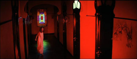 Image of the red hall in Suspiria